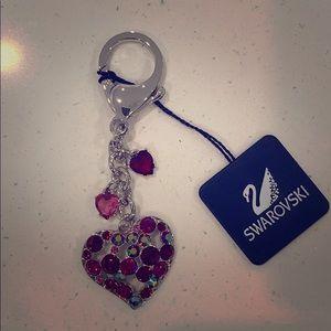 Swarovski heart keychain - brand new in box!